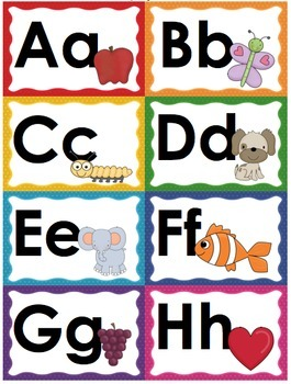 Classroom Word Wall and Schedule Cards (Rainbow-Themed Classroom Decor)