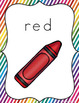 Color Word Posters (Rainbow Stripe Classroom Decor)