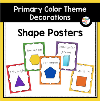Primary Colors Shape Posters (Rainbow Theme Classroom Decorations)