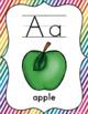 Rainbow Themed Classroom Decorations: Rainbow Stripe Alphabet