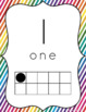 Number Posters with Ten-Frames (Rainbow Stripe Classroom Decor)
