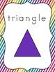 Rainbow Themed Classroom Decorations: Rainbow Stripe Shape Posters