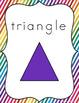 Shape Posters (Rainbow Theme Classroom Decor)