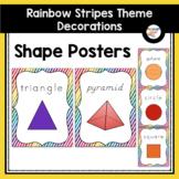 Shape Posters (Rainbow Stripe Classroom Decor)
