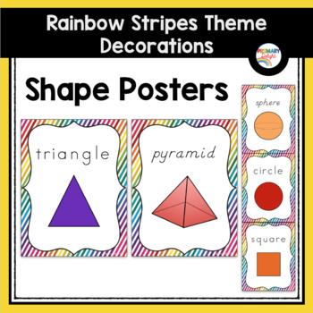 Rainbow Themed Classroom Decorations: Rainbow Stripe Shape