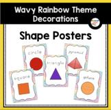 Shape Posters (Wavy Rainbow Theme Classroom Decor)