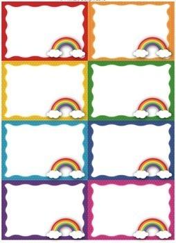 Name Tag and Birthday Display (Rainbow-Themed Classroom Decor)