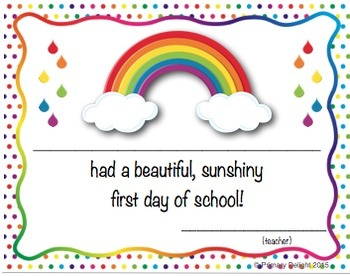 Postcards and Welcome Posters (Rainbow-Themed Classroom Decor)