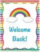 Rainbow Themed Classroom Decorations: Welcome Set