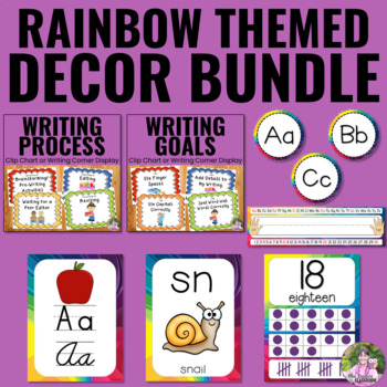 Classroom Decor Bundle - Rainbow Theme