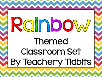 Rainbow Themed Classroom Set