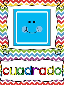 Rainbow Themed Colors and Shapes Posters {Spanish Version}
