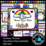 Rainbow  Decor Pack.   editable for Bulletin Boards
