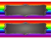 Rainbow Themed - Desk Name Tag Template