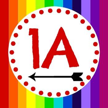 Rainbow Themed Desk Tags - Kagan
