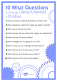 10 WHAT Questions to Develop Growth Mindset in Children