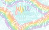 Rainbow Themed June 2021 Wallpaper by Taracotta Sunrise
