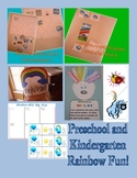 Rainbow Themed Math and Reading Centers, Crafts, and Games