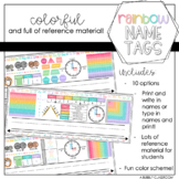 Rainbow Themed Name Tags