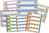 Rainbow Themed Name Tags Plates
