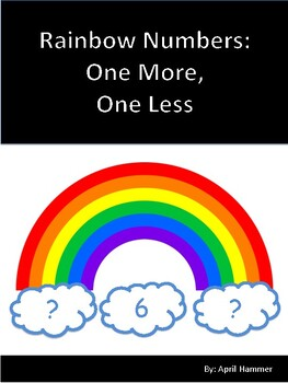 Rainbow Themed One More, One Less Math Center