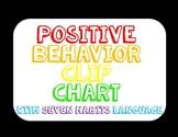 Rainbow Themed Positive Behavior Clip Chart