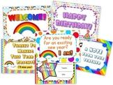 Rainbow Themed Postcards