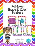 Rainbow Themed Shape and Color Posters