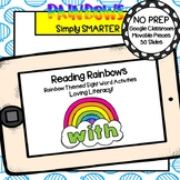 Rainbow Themed Sight Word Activities For GOOGLE CLASSROOM