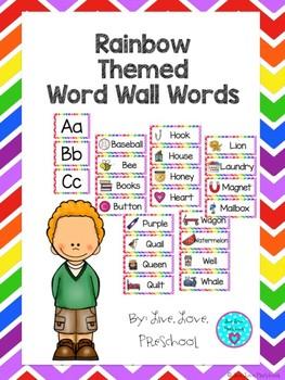 Rainbow Themed Word Wall