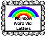 Rainbow Themed Word Wall Letters