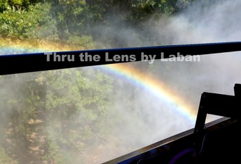 Rainbow Through a Train Window Stock Photo #97