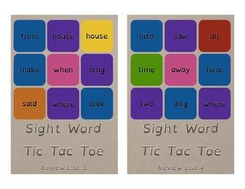 Rainbow Tic Tac Toe Games Dyslexia Font