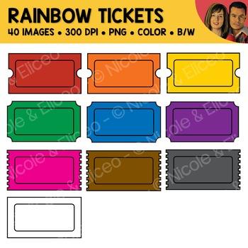 Rainbow Ticket Clipart
