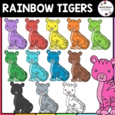 Rainbow Tigers Clipart | Zoo Animals Clipart