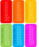 Editable Rainbow Times Table Chart