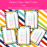 Rainbow Times Table Multiplication Facts Posters