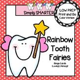 Rainbow Tooth Fairies Bingo:  LOW PREP Dental Health Themed Color Words Bingo
