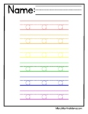 Rainbow Tracing Sight Word Worksheets (Pre-K Sight Word Pracitce)