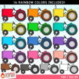 Rainbow Tractors Clip Art