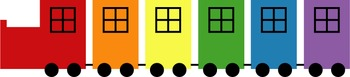 Rainbow Train Clip Art