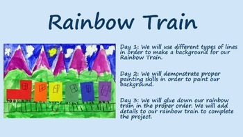 Rainbow Train Unit Plan and Power Point - BUNDLE!