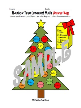 Rainbow Tree Ornament Math