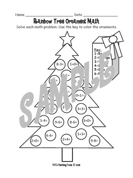 Rainbow Tree Ornament Math