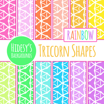 Rainbow Triangle Backgrounds / Digital Papers Clip Art Set