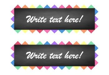 Rainbow Triangle Edge and Chalkboard Labels (Editable)