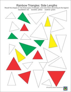 Rainbow Triangles Sort by Coloring
