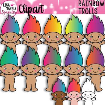 Rainbow Troll Clipart