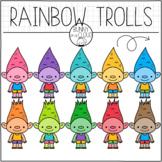Rainbow Trolls Clipart by Bunny On A Cloud