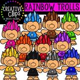 Rainbow Trolls {Creative Clips Digital Clipart}